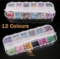 Wholesale Teardrop Rhinestones Nails - Mix Color Teardrop Nail Art Gems Rhinestones Deco Glitters Beautiful decoration 3000 pcs set
