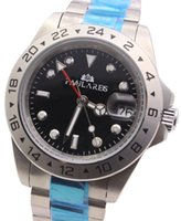 Wholesale Watch Men Chronometer - Luxury New EXP 16570 automatic Black Date Dial superlative chronometer Mens Sport Wristwatch Men Stainless steel Folding clasp mens watches