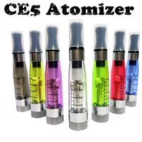 Wholesale Electronic Cigarette Liquid Cartomizer - Free shipping 1.6ml ego ce5 liquid electronic cigarette atomizers ce5 ego clearomizer wickless round drip tips tank cartomizer for battery