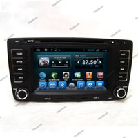 Wholesale Touchscreen Radios For Cars - Car dvd gps navigation system with radio wifi 3g touchscreen cd vcd camera input for skoda octavia