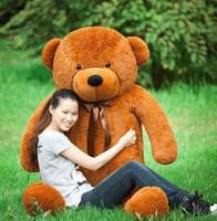 Wholesale Big Teddy Bear 2m - Giant teddy bear 200cm 2m large big stuffed animals plush life size soft kids toys children baby dolls for girls valentine gift