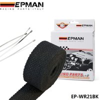 EPMAN - Nero Turbo Collettore di calore di scarico termico Wrap Nastro + Stainless Ties 2