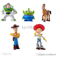 Freies Verschiffen 5 Stücke / set Toy Story Party Buzz Lightyear Woody Green Man Action-Figuren
