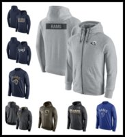 Wholesale Cheap Black Clothing - Epacket Men cotton Los Angeles football hoodies cheap winter Pullover clothing black Mens watching game ram rubgy sweatshirts M-XXXL