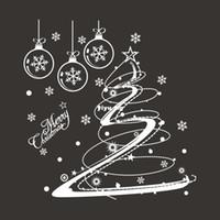 weihnachten vinyl fenster dekorationen großhandel-Weihnachten Aufkleber Blumen Weihnachtsschmuck Schaufenster Fenster Aufkleber - -xmas10