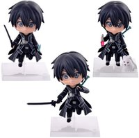 Wholesale Nendoroid Sword Art Online - 10cm Cute Nendoroid Sword Art Online Kirito PVC Action Figure Collection Model Toy For Christmas Gifts