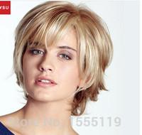 Wholesale Maysu Hair - MAYSU Short Human Hair Wigs For Women New Arrival Elegant Blonde Wig Best Brazilian Virgin Hair Wig Free Gift With Purchase