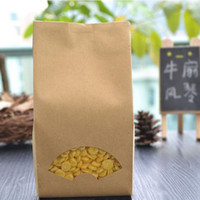 Wholesale Aluminium Crafts - 9*22+7cm Kraft Paper Bag Food Packaging Bags Tea Coffee Sample Package Aluminium Plated Food Grade Sealing Bag ZA5484