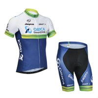 Wholesale Orica Greenedge Cycling Clothing - Wholesale-2015 orica greenedge team lycra cycling jersey breathable pro cycling clothing sportswear bicycle bibs shorts free shiping