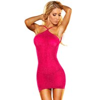Wholesale Sexy Girls Tight Wear - Sexy Party Dresses Club Wear Hot Girl Bodycon Fashion Dresses Pearl fabric backless neck hung tight dress Free shipping