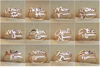 ingrosso anelli zodiacali moda-Moda nuovo arrivo 12 costellazioni Zodiaco Anelli di barretta Placcato in oro 316 acciaio al titanio Misura regolabile Anelli da donna Gioielli di moda