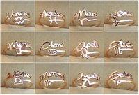 tierkreis ringt mode großhandel-Neue Ankunft der Art und Weise 12 Konstellationen Tierkreis-Finger-Ringe Gold überzogener Stahl des Titans 316 justierbare Größe Ring-Art und Weiseschmucksachen der Frauen