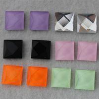 Wholesale Flat Back Square Crystals - 50PCS 10mm flat back square crystal rhinestone Faceted beads Glass ZZ280