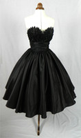 designer winter cocktail dresses NZ - Vintage 1950's Style Short Prom Dresses Tea Length mini Black Dress Ball Gowns Designer Party Cocktail Dress 2015 Cheap Homecoming Gowns