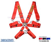 Wholesale Red Racing Seats - Tansky - 2015 New Sabelt 6-Point Racing Seat Belt   with 5 pcs FIA Approved Expiry 2020 (Red, Blue, Black) TK-SAB06