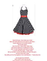 vestido com bolinha de zíper venda por atacado-Sexy fashion vestido de baile preto pano branco manchado cinto vermelho pendurado na parte de trás do pescoço saia com zíper saia do transporte barato rede bolha saia