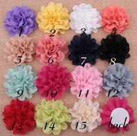 Wholesale hair holes - Baby Infant Multilayers Hollow hole lace Fabric Flowers without hair clips For Kids DIY headbands Hair Styling Accessories AW18
