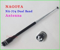 Оптово-Nagoya NA-774 SMA-F Женский UHF + VHF Антенна для Baofeng UV-5R Puxing UV6 PX-888K TG-UV2 Walkie Talkie