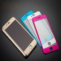 Wholesale Metal Guard - For iphone 6 Plus Metal Full Front Body Aluminium Premium Tempered Glass Film Screen Protector Guard 9H for iPhone6 4.7 Plus 5.5