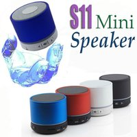 Wholesale S11 Beatbox Speakers - Bluetooth Mini Speaker S11 Mini Speaker Mini Loudspeaker BeatBox Metal Compact Player Home Audio For IPhone IPAD Samsung HTC Sony LG