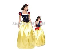 Wholesale Fairy Tale Costumes For Women - Wholesale-Snow White Adult costume Princess costumes Fairy Tale Costume cosplay Dress Gown Christmas costumes for women FREE SHIPPING