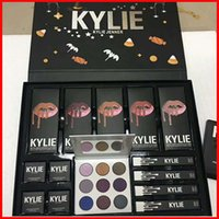 Più nuovo Kylie Fall Collection Jenner Lip kit Liquid Lipstick lipgloss ombretto power box grande tavolozza viola alta luce regalo di Natale