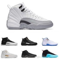 2018 New air retro 12s shoes 12 Men Basket Shoes TAXI Flu Game gamma blu Playoff flint blu Blu Varsity RED OVO Bianco