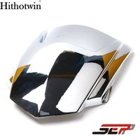 Wholesale Headlamp Small - SEP Scooter Electroplate Front Headlight Headlamp Head Light Lamp Small Mask Cap Cover Shield Large For YAMAHA BWS X 125 X125