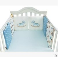 ingrosso paraurti animale per culla-Cartoon Animal Crib Bumper 6Pcs Baby Bed Paraurti nella culla Paracolpi Lettino Protezione culla paraurti Neonato Toddler Bedding Set