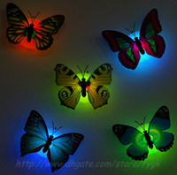 Nuevas adquisiciones de fibra óptica de la mariposa Nightlight LED Luces de Navidad Decoración mayorista LED Wedding Party Room luces de la decoración de la pared