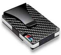 Wholesale Nylon Clips - Black Carbon Fiber Money Clip, RFID Blocking Wallet, Slim Design Credit Card Business Card ID Holder for Men