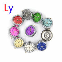 Wholesale Mixed Color Acrylic Beads - NOOSA more color mix noosa watch Charms chunks singles Ginger button snaps 25x11mm interchangeable jewelry AC210