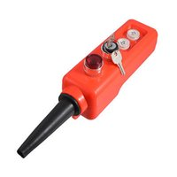 Blocco 220V lampada rossa chiave ON-OFF-ON momentaneo Up Down Gru Push Button Switch ordine $ pista 18no