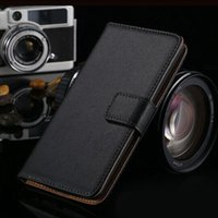 Wholesale S4 Mini Genuine Leather Flip - For Galaxy S3 S4 S5 Mini Genuine Real Wallet Leather Case Flip Credit Card Slots Stand Cover For Samsung S2 S4 mini I9300 i9500