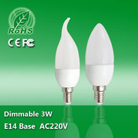 Wholesale Cheap Candle Warmers - LED Candle Bulbs CREE 3W E14 B22 E27 AC85-265V Warm Cool White High Brightness SMD LED Candle Light Lamp Cheap High Quality for Home Light