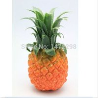 Wholesale Faux Food - 1pc Artificial Pineapple Faux Fruit Fake Food Home Kitchen Decor Photography Props Artificial Flower