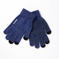 Wholesale Chinese Wear For Women - Womens Touch Screen Gloves Wear Anti-slip Knitted Full-finger Men Mittens Driving Glove for Men Women Winter Warm Gloves High Quality