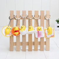 Wholesale Dolls Adora - Anime Gudetama PVC toy Cut Adora Doll Yellow Lazy Kawaii keychain Action figure 5cm Free shipping