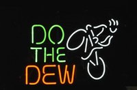 Wholesale Mountain Dew Neon Sign - New condition DO THE DEW Mountain BIKE LOGO BEER BAR REAL NEON LIGHT SIGN XMAS GIFT FAST SHIP