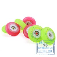 Wholesale Flashing Roller Skate Patins - Wholesale-8 Pieces Original CityMonkey LED Flash Shining Inline Skates 88A Wheel, Roller Skate Wheels for Street FSK Slalom Braking Patins