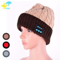 bluetooth kulaklık alıcısı toptan satış-Iphone 8 için X Bluetooth Şapka Kablosuz Hoparlör Bluetooth Şapka Alıcısı Ses Müzik Hoparlör Bluetooth Şapka Kap Kulaklık Kulaklık