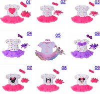 Wholesale Chevron Shoes - infant baby christmas romper dress 3pc set girls birthday tutu romper dress & infant chevron polka dot walking shoes & girls bow headband