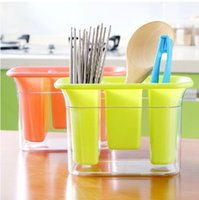 Wholesale Plastic Storage Tubes - Drain the creative home of high quality thick plastic chopsticks chopsticks cage tube draining rack kitchen cutlery storage box