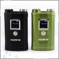 Wholesale Vw Display - Megatron 260W Box Mod Built-in Three 18650 Battery Variant 7-260 Wattage VV VW Ecig Mod Megatron 260w with OLED Screen Display by DHL