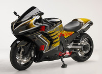 Wholesale Zx14r Custom Paint - Painted gold and black custom plastic injection molding fairing Kawasaki ZX-14R Ninja 2012-2013 1