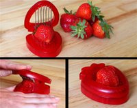 8 * 5 * 2cm 200PCS Strawberry Slicer Chopper Fruit Cutter Vegetable Peeler Slicers Creative Kitchen Tools GM07