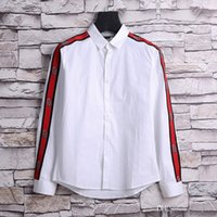 Wholesale Stitching Designs Shirts - Paris Luxury Fashion Design 3D Printing Casual Harajuku Long Sleeves Men's Medusa Satin Cotton Shirts Sleeve Printed With Letter Pattern