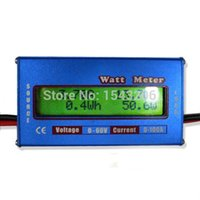 Wholesale Small Voltage Meter - New Digital LCD For DC 60V 100A Balance Voltage RC Battery Power Analyzer Watt Meter small order no tracking
