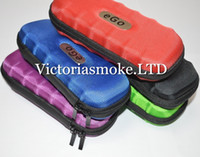 Wholesale Ego Fedex - Fedex Free Colorful Ego Case Ego Leather New Zipper Case Bag Electronic Cigarette Carry Bag with 9 different colors top quality