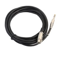 xlr jacks al por mayor-6.35mm Jack macho a XLR 3PIN Cable de micrófono hembra Cable de aleación de zinc Conector chapado en oro Cable de audio Adaptador de cable con resorte